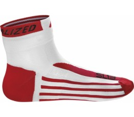 Sl13 Sock White/red S=38-40