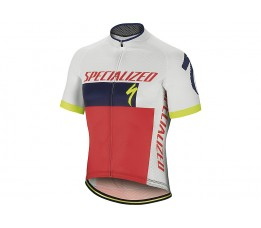 Specialized Fietshirt Roubaix Comp Logo L White/blue/red