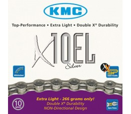 Kmc Ketting Kmc 11/128 X 10el 114l 10sp Zilver Extra Light