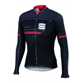 Shirt lange mouw Gruppetto Black/Anthracite/Red-XL Sportful