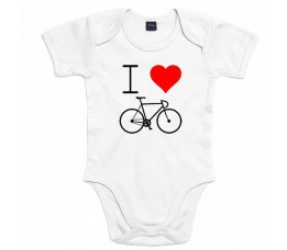 Cyclo Cadeau Rompertje I Love Cycling Wit Mt. 68