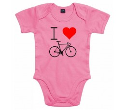 Cyclo Cadeau Rompertje I Love Cycling Roze Mt 68