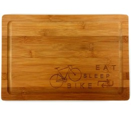 Cyclo Cadeau Broodplank - Eat - Sleep - Bike-repeat -