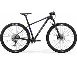 Merida Big Nine Limited Matt Black/glossy Blue, Zwart