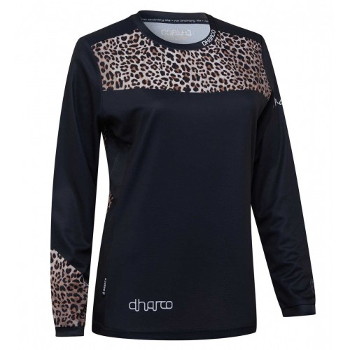 Dharco Shirt Lm Ladies Gravity Jersey Leopard S